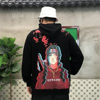 Nagri 2020 novos homens hip hop hoodies japonês harajuku cartoon naruto hoody algodão enorme s m l xl y200704