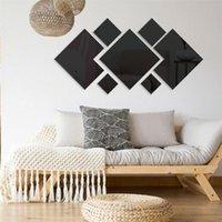 Wallpaper removível Sala Decoração moderna Adesivos Quadrados Geometria Início acessórios de decoração Abstract Wall Decals Arte
