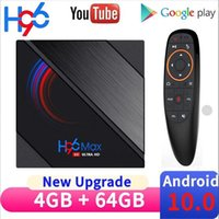 2020 H96 Max H616 Android 10 TV-Box 6k YouTube Media Player 2.4g / 5g Wifi 4G 64g Quad Core Smart Lemfo TVBOX
