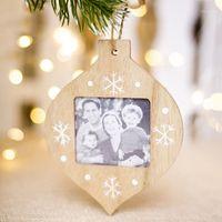 Décorations de Noël DIY BOIS PO CADRE Pendentif Pendentif Ree Ornements pour Home1