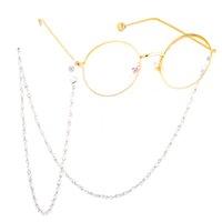Fashion Simuled Pearl Cadena de gafas con cuentas Gafas de sol Cadena Cable Cable Lanyard Collar Lectura Gafas Accesorios