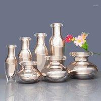 Creme frasco cosmético Rose Gold Garrafa vazia de alta qualidade Spray Bomba de loção de loção emulsão 15/30 / 50G 15ML 30ML 50ml 100ml1
