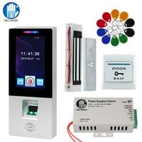 Contrôle d'accès RFID Kit système biométrique d'empreintes digitales électrique serrure magnétique Boulon de grève Verrouillage automatique des portes Machine temps de présence USB