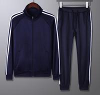 Chinesische Größe Herren Sportswear Casual Frühling Trainingsanzug Männer Zwei Teile Sets Stehkragen Jacken Sweatshirt Hosen Jogger Track Anzug Laufen