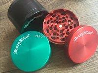 2PCS / LOT 55MM / 63MM شارب Stone® مطحنة طاحونة عشب SharpStone المعادن 4PC أعلى من الصعب التبغ العشبية مطاحن للتدخين