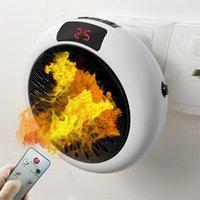 Ventilador de calefacción para el hogar 900w caliente Mini calentador eléctrico del hogar Calefacción eléctrica del aire del ventilador Oficina Sala de Calentadores práctico calentador de aire más caliente del ventilador