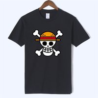 Один кусок футболки аниме мужчины 100% хлопок футболка бренда одежда футболка Homme аниме белая борода обезьяна луффи аниме мода Camiseta T200517