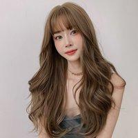 Фабрика прямых продаж парик женских комиксов челки сетка красное круглое лицо большая волна пушистый полный головной убор длинные вьющиеся волосы