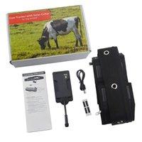 سيارة GPS الملحقات T500S لوحة للطاقة الشمسية GPRS GSM المقتفي ل Big Pet Animal Dog Waterproof 5000mah Battery Geo-Fence Motion Sensor