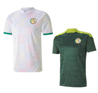20 21 Senegal Fussball Trikot Top Qualität Senegal 2020 2021 Home White Away Green Balde Koulibaly Mane Football Team Trikots Fußball Hemd