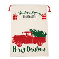 حقائب عيد الميلاد سانتا أكياس قماش قطن كبيرة حقائب العضوية الرباط هدية حزب مهرجان شخصية عيد الميلاد الديكور GGB2393