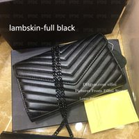 Venta al por mayor Luxurys Luxurys Designers Bolsos de Crossbody Moda Caviar Caviar Cuerpo de cuero genuino Montones Bolso de hombro Cadena de Cadena de Cadena Negra
