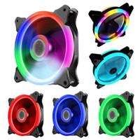 120 mm de refrigeración del ordenador Caso del ventilador del radiador RGB PC ajustable del ventilador del disipador de calor de LED de colores más frías tranquilas las fans para equipo enfriador