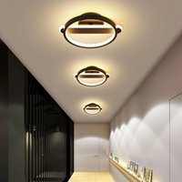 Nordic minimalist modern led aisle lights square circular ceiling lamps corridor balcony hallway staircase ceiling lighting RW454