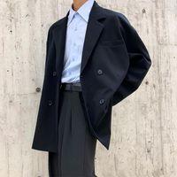 يناسب الرجال الحلل 2021 الخريف والشتاء النسخة الكورية من شخصية فضفاضة القطن اللون الصلبة بدلة صغيرة السترة hombre1