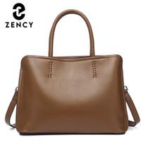 zency 소프트 쇠가죽 가죽 핸드백 유명한 브랜드 디자인 여성 어깨 가방 여성 크로스 바디 가방 2020 패션 탑 핸들 가방
