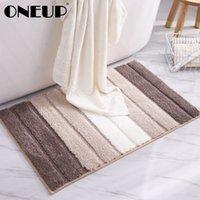 OneUp 미끄럼 방지 매트 욕실 카펫 간단한 스트라이프 흡수성 카펫 룸 거실 문 계단 욕실 발 바닥 매트 T200624