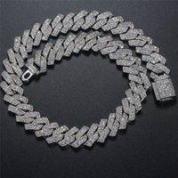 Hotsale 10 mm plaqué or 16-24inch glace BLING Bijoux Hip Hop Chains pierre cubique Miami Cuba