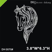 Бесплатная Доставка Прекрасная жизнь Оптовая Бесплатная Доставка Лошадь Head Image OT Хрустана Трансферт Утюг на Дизайн изображений исправления DIY DH0070 #