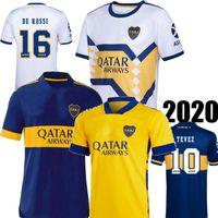 20 21 Boca Juniors دي روسي الرئيسية أزرق بعيدا أبيض أصفر رجالي لكرة القدم جيرسي تيفيز مارادونا أبلا بوكا كاميسا دي فيوتول لكرة القدم قميص 2021