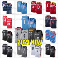 John 1 Wall Jerseys 13 Harden Russell 4 Westbrook 0 Mens Hakeem 34 Olajuwon Rouge 1993-94 Noir Bleu Taille S-XXL 2021 Nouveau Basketball