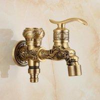 Lavatrice rubinetto miscelatore antico bronzo totale ottone doppio uso da giardino rubinetto da giardino bagno rubinetto per lavabo a parete rubinetto a freddo