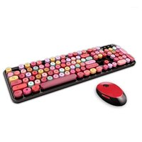 Tastiera per tastiera wireless e mouse da 2,4 GHz tastiera portatile portatile e tice1
