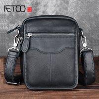 HBP Aetoo ретро кожаная сумка для плеч мужской первый слой кожаная сумка на открытом воздухе досуг карманы многофункциональный кожа маленький