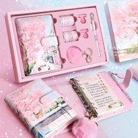Sharkbang вишневые цветы Sakura 80 листов A6 Loose-Leake журналы ноутбука повестки дня планировщик подарок набор Kawaii Pulles Stocions1
