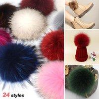 Mütze / Schädelkappen Große Größe DIY Echt Pelz Pompoms Waschbär Pom Poms Bälle Natürliche Pompon für Hüte Taschen Schuhe Schals Zubehör1