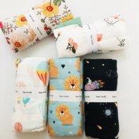 120cm bebê Swaddle Baby Muslin Cobertor Qualidade Melhor do que Aden Anais Bebê Multi-usa Algodão / Bambu Blanket Infantil Envoltório 201288