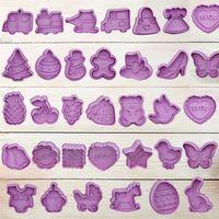 لطيف البسكويت أدوات الصحافة نوع كوكي البسكويت العفن الحرفية diy الكرتون البلاستيك تزيين أدوات العفن اليدوية مجموعة T10I49