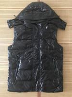 Yeni Tasarımcı Erkekler ve Kadınlar Kış Aşağı Yelek Klasik Tüy Weskit Ceketler Bayan Casual Yelekler Coat