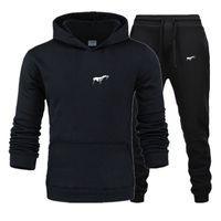 2020 الرجال رياضية جديدة ملابس رياضية مجموعات الشتاء 3xl عارضة الملابس حجم كبير امرأة اثنين قطعة دعوى هوديس البلوز + ركض السراويل