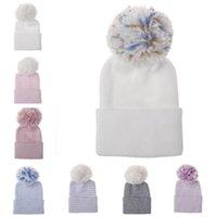 Caps Casquettes Béton Baby Hiver Bonnet en coton chaud avec Pom Ballon Pographie Pographie Pographie H100S