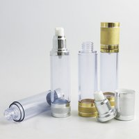 360 x 50ml Clear Airless Lotion Cream Pump Bottle 50cc Empty Vacuum Cosmetic Packaging Aluminum Container