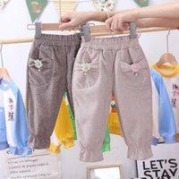 뚱뚱한 크롤러의 세대 새로운 스타일 한국식 소녀 아기 격자 무늬 정장 바지 서양식 작은 어린이 랜턴 Trouser1