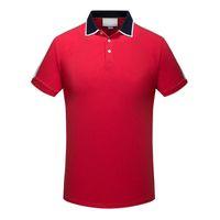 2021 Faixa de designer Polo Camiseta Camisetas Snake Polos Bee Floral Bordado Mens High Street Moda Polo T-shirt Tamanho M-3XL