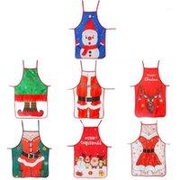 Noel Komik Mutfak Önlükleri Noel Dekorasyon Kişilik Yenilik Yaratıcı Çift Parti Gifts1