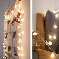 الصمام عيد الميلاد جولة الكرة الجنية الستار سلسلة ضوء شنقا خلفية الجدار أضواء الزفاف حزب غرفة ساحة الديكور البطارية Powered1