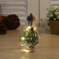LED Transparante Lichtgevende Bal Kerst Ornamenten Creatieve Simulatie Gloeilamp Kerstboom Hanger Plastic Bal GWD9828