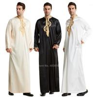 Islamische Kleidung Männer Muslime Robe Arabische Thobe Ramadan Kostüme Arabisch Pakistan Saudi-Arabien Abaya Dubai Full Sleeve Kaftan Jubba1