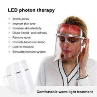 3 ألوان LED العلاج بالضوء قناع الوجه مكافحة الشيخوخة أدوات مكافحة التجاعيد Beatuy الوجه SPA أدوات تجميل الجلد تشديد الأجهزة