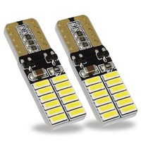 T10 LED Bulb Bulb Canbus 5W5 Auto W5W LED Segnale luce 12V 6000K Lense Lights Lights 4014 24SMD bianco