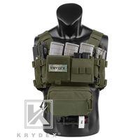 Krydex MK3 Tactical Toactical Passeur Mini Spiritus AirSoft Hunting Vest Vest Ranger Military Carrier tactique Vest avec pochette de magazine 201215