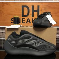 Лучшего качество Azael Alvah Eremiel Kanye West 700 V2 V3 мужского Wemens кроссовок Srphym Arzareth пена Runner тройных черные Мужские спортивные кроссовки