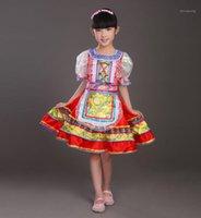 Filles russes Costume de danse traditionnelle classique Robe Cut Kawaii Princesse Stage Robes Stage Vêtements de performance pour enfants 091