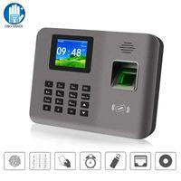 التحكم في الوصول بصمة 2.4 بوصة RFID TCP / IP / USB وقت الحضور آلة الحضور الإصبع طباعة ساعة مسجل التعرف على الموظف