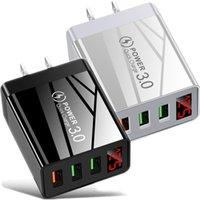 30W QC3.0 Schnellaufladung 3 Ports EU US UK AC Home Reise-Wand-Ladegerät-Adapter für iPhone 11 12 Samsung S21 Note 20 HTC Tablet PC