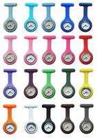 Presentes DHL gratuito Nurse Silicone Medical relógio de bolso Relógios Doctor Natal colorido Fob túnica Assista cores misturadas